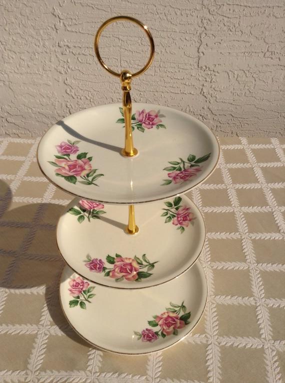 Vintage jeweled cupcake stand