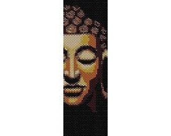 Instant Download Beading Pattern Peyote Stitch Bracelet Buddha Face Seed Bead Cuff
