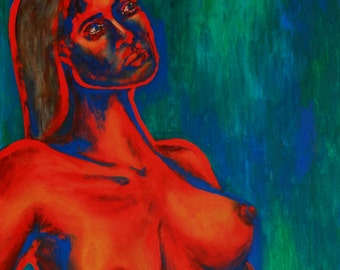 The Woman I - an original painting by Liena Ivanova