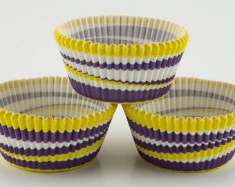 Purple and Yellow Swirl Cupcake Liners