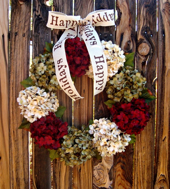 Items Similar To Christmas Wreath Old Fashioned