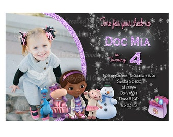 Doc McStuffins Invitations DIY Printable (D06)