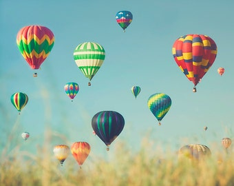 Hot Air Balloons Photograph - Whimsical, Adventure, Flight, Nursery Wall Art - A Hundred Dreams