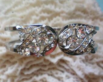 Rhinestone Clamper Bracelet - 2558