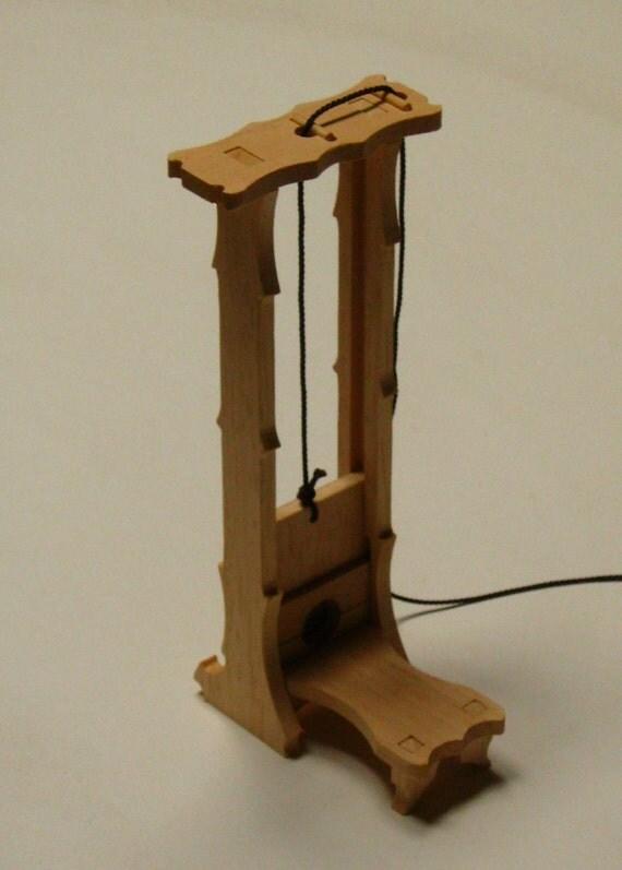 guillotine model kit wood toy model kits pinterest. Black Bedroom Furniture Sets. Home Design Ideas