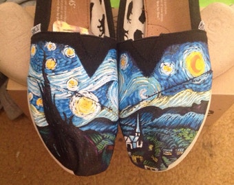 "Custom Van Gogh's ""The Starry Night"" on Toms"