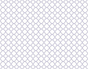 Lavender quarterfoil craft  vinyl sheet - HTV or Adhesive Vinyl -  white with light purple clover quatrefoil pattern vinyl HTV545