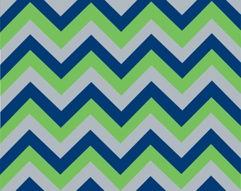 Blue green and grey craft or adhesive  vinyl sheet - HTV or Adhesive Vinyl -  large zig zag pattern HTV1117