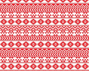 Red and white tribal pattern craft  vinyl sheet - HTV or Adhesive Vinyl -  Aztec Peruvian pattern HTV901