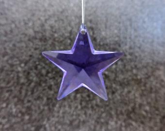 Swarovski Crystal Star, ONE(1) Purple Star, Strass Article 8815 28MM Purple, Genuine Lead Crystal