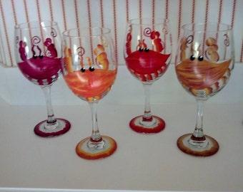 Maryland Crab Wine Glasses