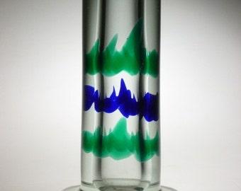 Czech art glass vase, Jezek Skrdlovice RARE