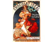 "Hot CHOCOLATe IDEAL French Restaurant Kitchen Food Poster Dining Room Pantry -available in 12""x18"", 20""x30"" or 24""x36"" sizes- Art Print 059"