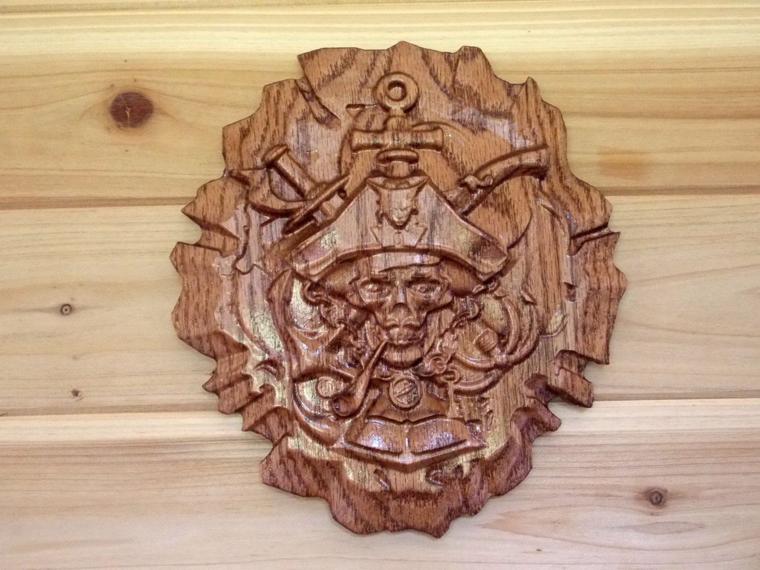 Pirate home decor wooden wall