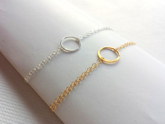Bracelet Cercle Minimaliste Or ou Argent