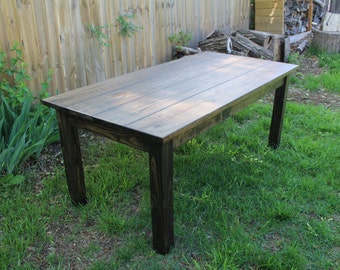 Rustic Farmhouse Table (Black Walnut)