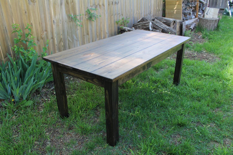 Rustic Farmhouse Table Black Walnut