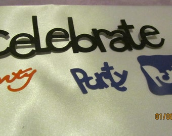 celebrate/party die cuts