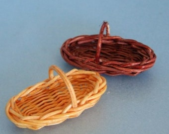 Basket Trug ~ Garden Accessory ~ 1:12 Dolls House Miniature