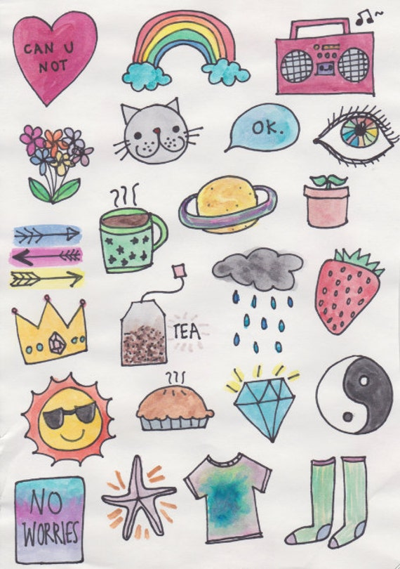Items Similar To Fabulous Watercolor Stickers Cute