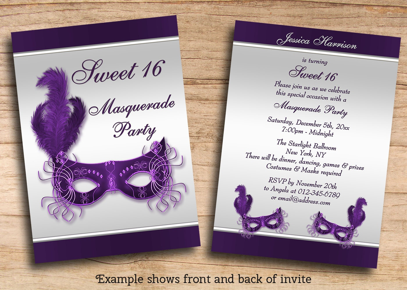 Items similar to Printable Sweet 16 Masquerade Party ...