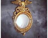 Golden Eagle Circle Mirror