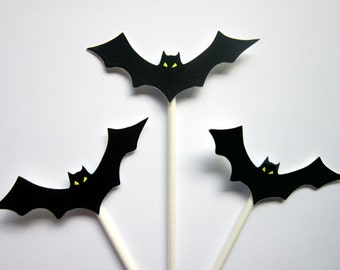 Bat Cupcake Toppers, Halloween Cupcake Toppers