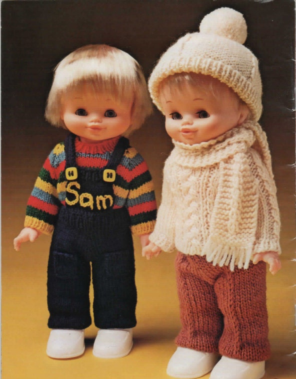 Knitting Pattern Boy Doll : Vintage pattern to knit little Boy Dolls Clothes knitted