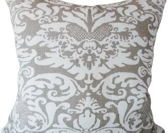 SALE - Damask Decorative Pillow Cover - Throw Pillow - Accent Pillow - Toss Pillow - Both Sides - 18x18, 20x20