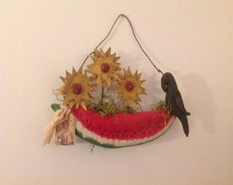 Crow and Watermelon Hanger