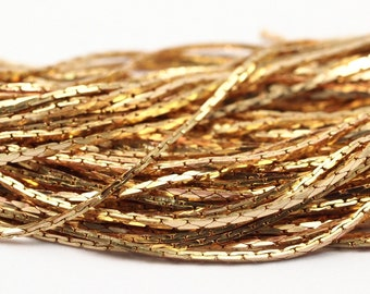 10 meter 33 feet 0,8 mm tiny soldered raw brass flat snake mesh chain