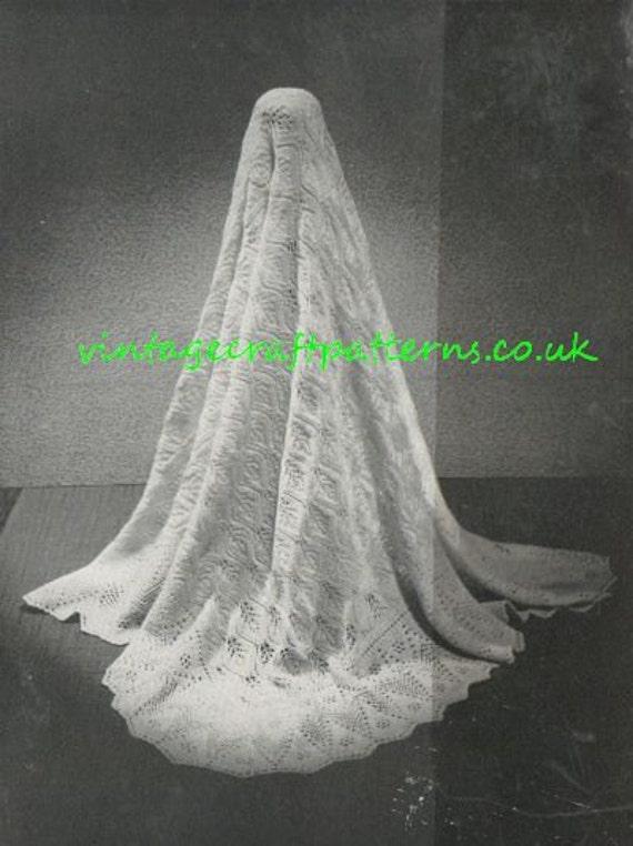 State Occasion shetland lace baby shawl vintage knitting