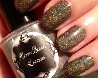 Stayin Alive - holographic nail polish - indie nail polish - makeup - manicure - holo nail polish - handmade - indie makeup