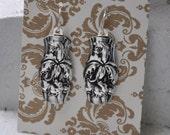 1902 Floral Spoon Earrings