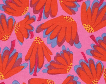 LAZY DAISY Pink RETIRED BM044 Brandon Mably  Kaffe Fassett Sold in 1/2 yd increments