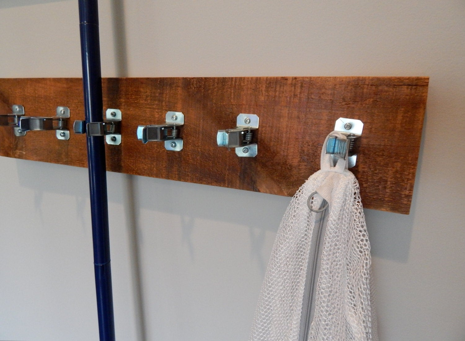 Hanging Utility Rack Broom And Mop Holder Laundry Garage
