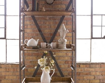 Beautiful Handmade Vintage Industrial Shelf