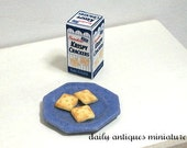 Dollhouse miniature food in 1/12 scale - Cracker with Box