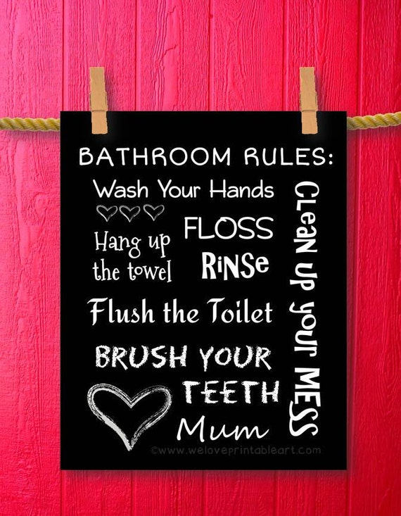 Printable Art Bathroom Sign