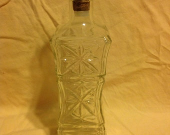 """Whiskey Decanter """"Hour Glass Shape"""""""