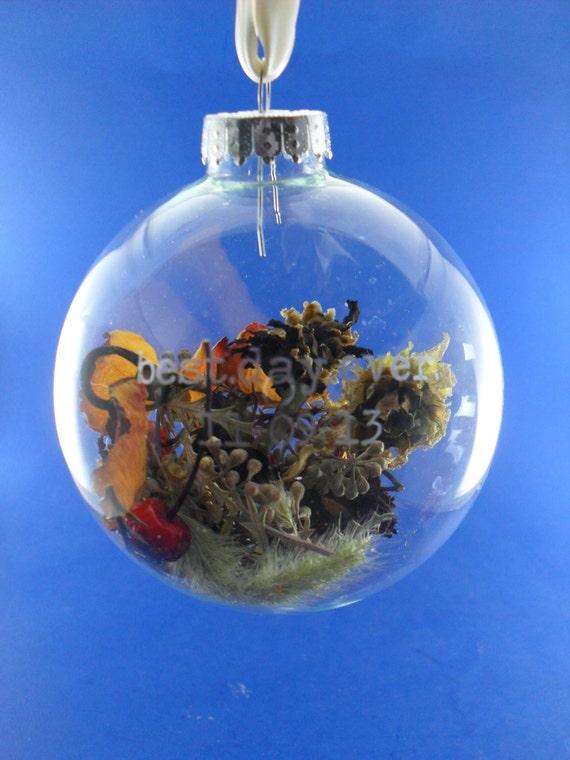Wedding bouquet keepsake etched glass ornament