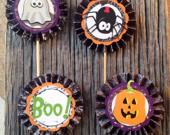 Halloween Cupcake/Appetizer Toppers (Set of 12)