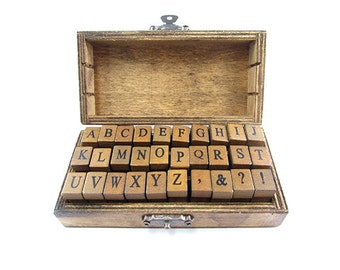 Alphabet Stamp Set Vintage Style - Uppercase
