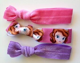 Disney Princess Sofia the First elastic hair ties (3 pack)