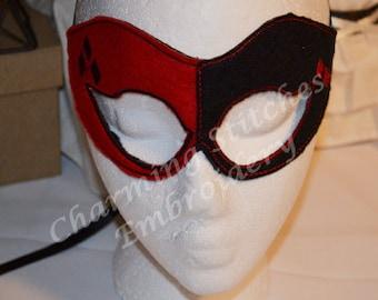 Harley quinn mask etsy for Harley quinn mask template