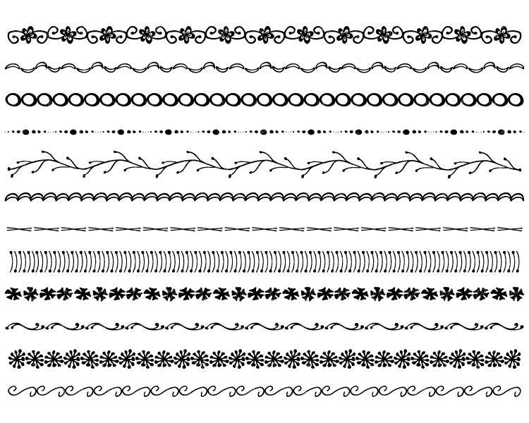 Hand Drawn Borders Hand Drawn Clip Art Borders Black And