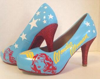 WW Comic Heels Custom Made to order