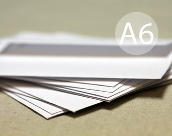 "A6 White Envelopes - 4x6 envelopes (true size 4 3/4"" x 6 1/2"") - Quantity 25"