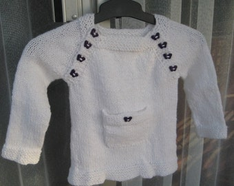 Girls Top with Purple Buttons