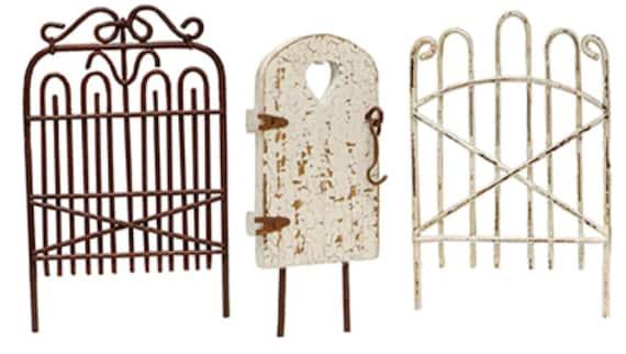 Mini Garden Gates Wrought Iron Fence Distressed by